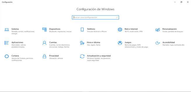 Configuración de cuentas en Windows