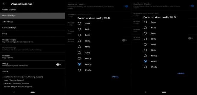 Configurar la calidad de un vídeo de YouTube