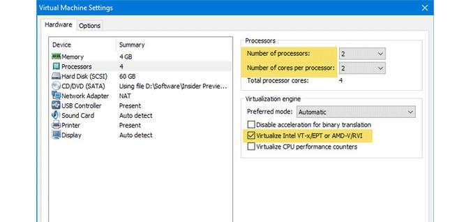 Configurar Windows Sandbox en VMware