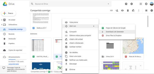 Crear link de descarga desde Google Drive