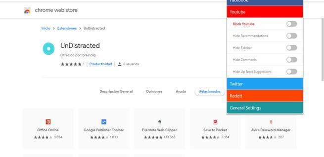 UnDistracted, extensión para Chrome para evitar distracciones