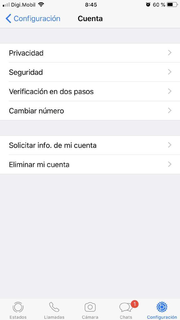 Activar huella WhatsApp iPhone - 2