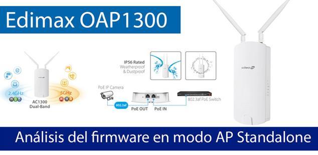 Ver noticia 'Conoce el firmware del Edimax OAP1300 en modo AP Standalone'