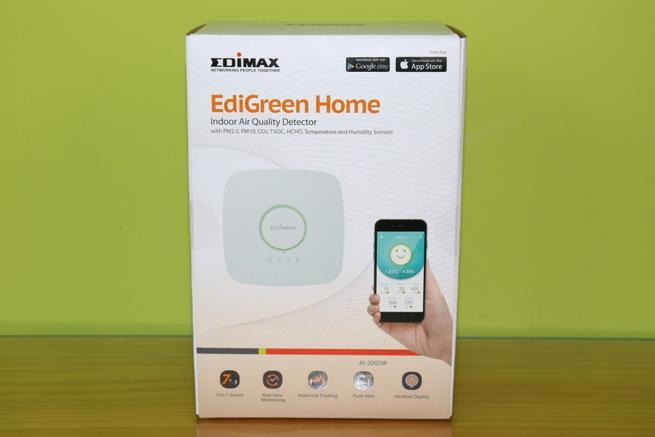 Frontal de la caja del dispositivo Edimax AI-2002W en detalle
