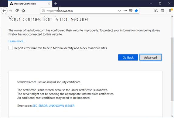 Error certificado Firefox 65 Avast