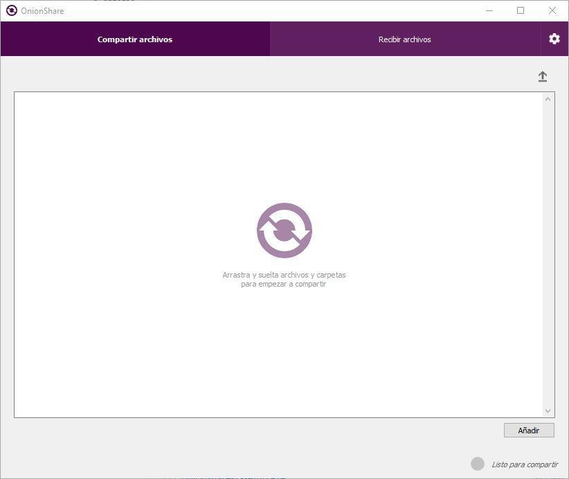 OnionShare 2 - modo compartir