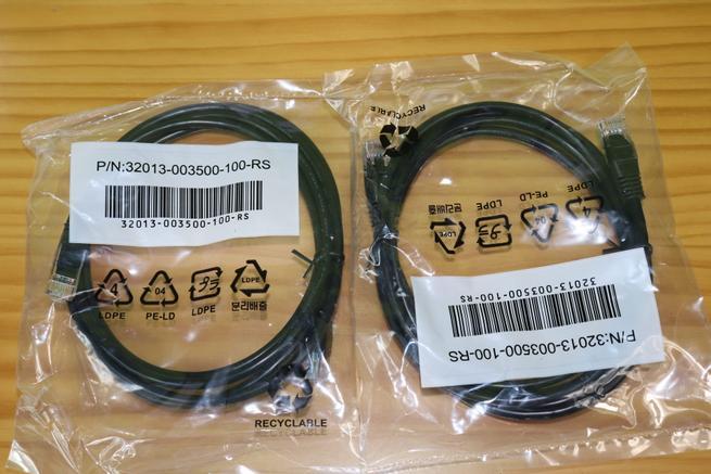 Cables de red del servidor NAS QNAP TS-332X