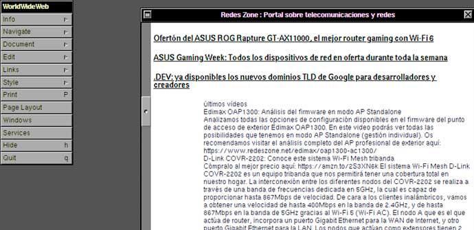 Ver noticia 'Este navegador del CERN te permite saber cómo era navegar por Internet en 1990'