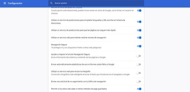 Configurar la privacidad en Chrome