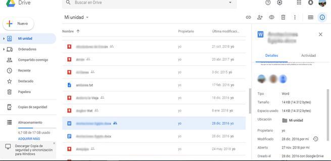 Cómo ver archivos que estamos compartiendo en Google Drive