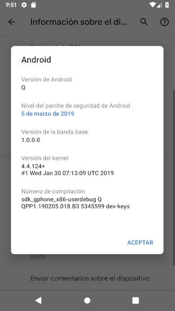 Android Q Info
