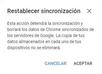 Confirmar eliminar datos personales Google