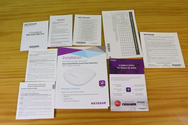 Documentación del AP profesional NETGEAR WAC505 en detalle