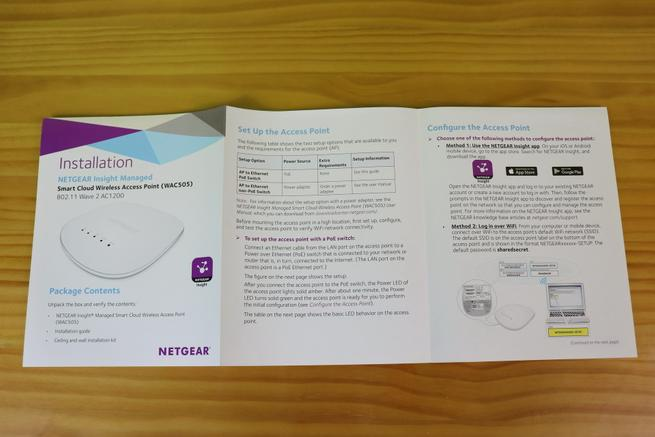 Guía de instalación rápida del AP profesional NETGEAR WAC505