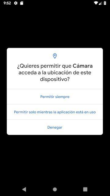 Permiso Ubicación GPS Android Q