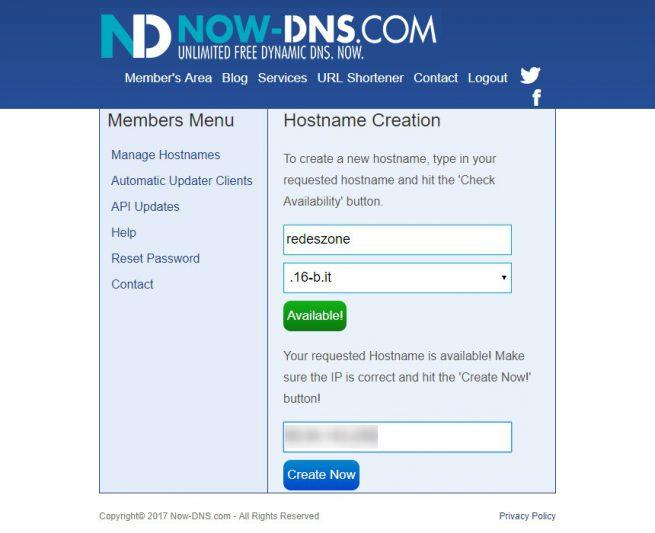 Registrar DDNS Now-DNS