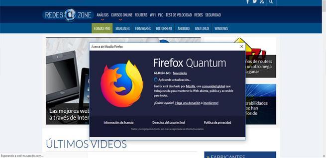 Actualizar Firefox con seguridad