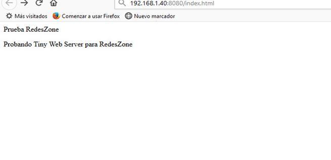 Configurar Tiny Web Server