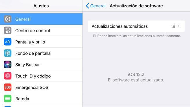 iOS 12.2 instalado