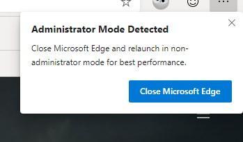 Aviso administrador Edge Chromium