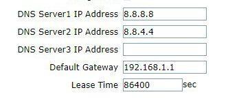 Configurar DHCP router