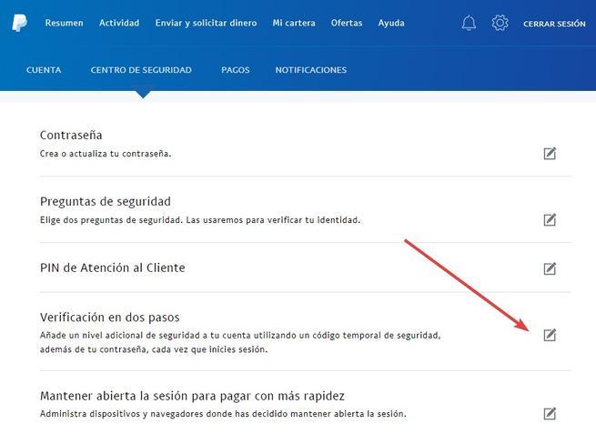 PayPal - Activar Google Authenticator 1