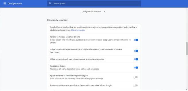 Activar navegación segura en Chrome