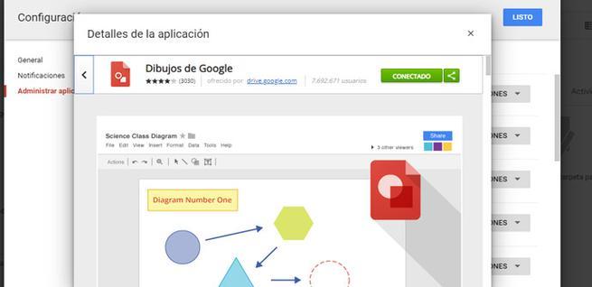 Desconectar aplicaciones en Google Drive