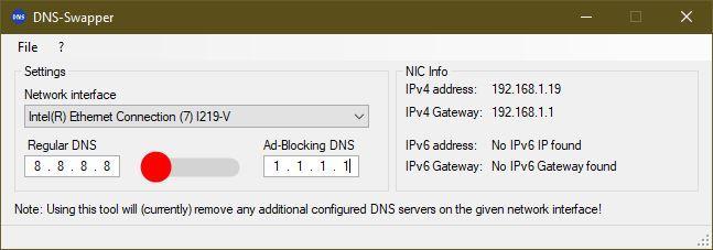 DNS Swapper - Config