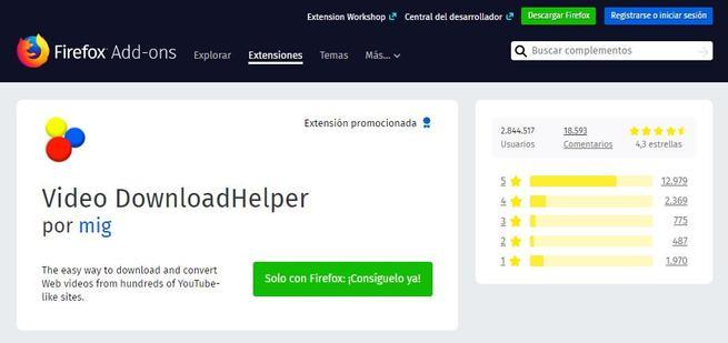 Extensión fiable Mozilla AMO Firefox