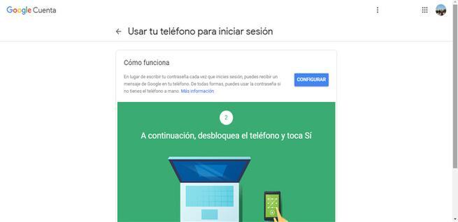 Agregar teléfono a la cuenta de Google