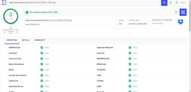 Analizar archivos en Dropbox