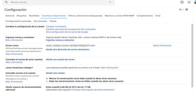 Configuración de seguridad en Gmail