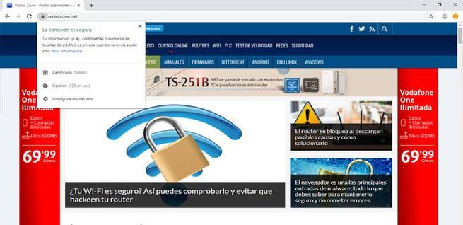 Ver los permisos de los sitios en Chrome