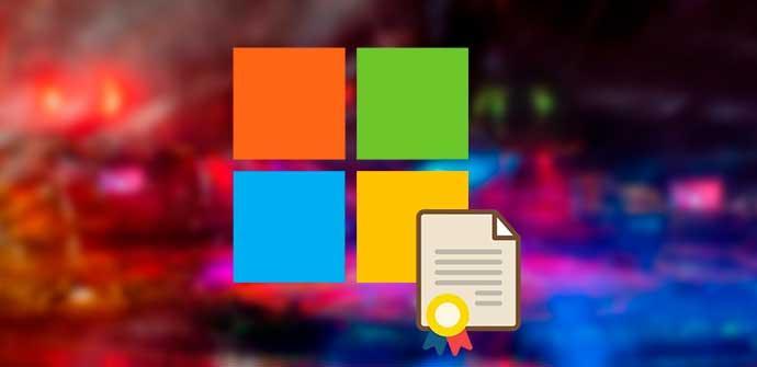 Fallo seguridad certificado Windows Microsoft