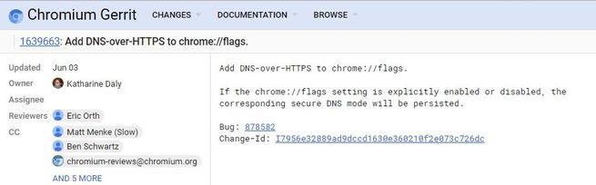 Google Chrome DoH