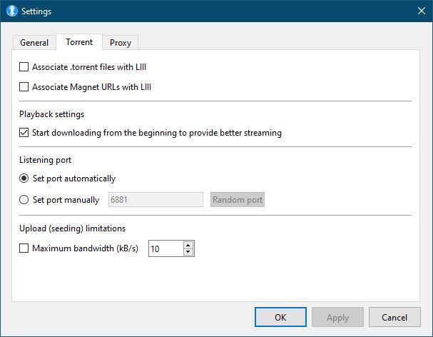 LIII BitTorrent Opciones - 2