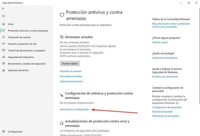 Protección contra alteraciones - Windows Defender - 2