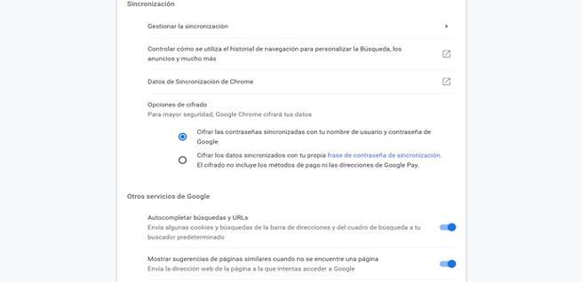 Configurar la sincronización en Google Chrome