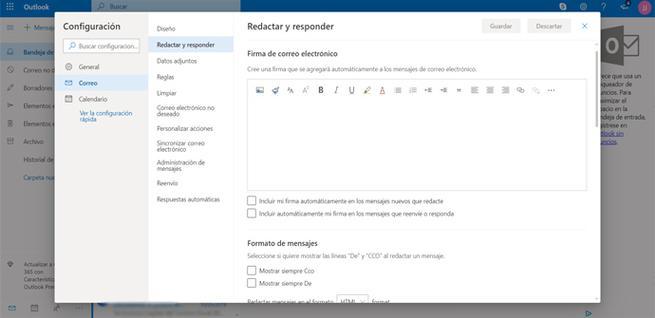 Crear firma para Outlook