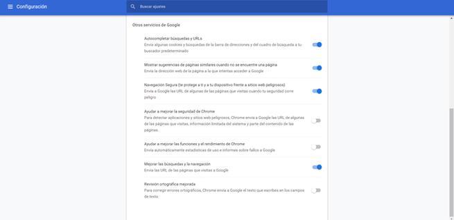 Deshabilitar el análisis de virus de Chrome