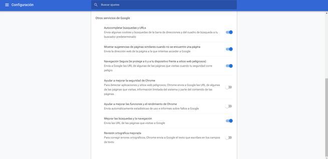 Evitar el envío de páginas y cookies desde Google Chrome