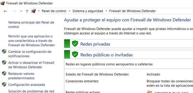 Permitir aplicación en Windows Firewall