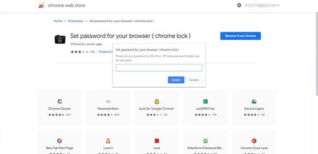 Poner contraseña en Google Chrome