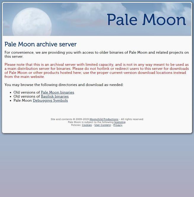 Pale Moon Archive