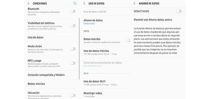 Activar el ahorro de datos en el móvil