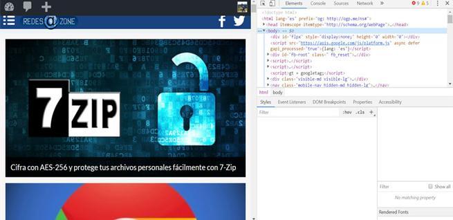Herramientas para desarrolladores de Chrome