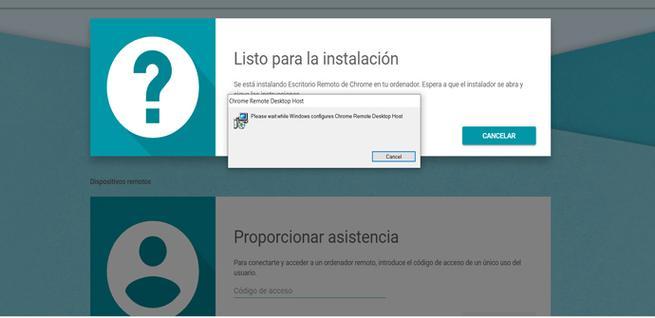 Instalar el escritorio remoto de Chrome