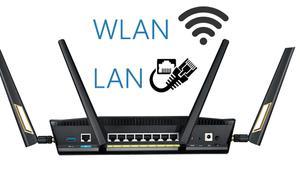 Qué es la LAN y la WLAN en un router inalámbrico