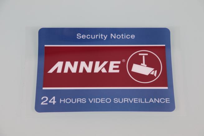 Pegatina de videovigilancia 24h de ANNKE sistema videovigilancia 1080p